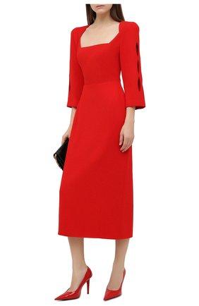 Женское платье ULYANA SERGEENKO красного цвета, арт. ABM007FW20P 1456т20 | Фото 2