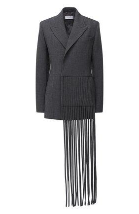 Женский шерстяной жакет BOSS серого цвета, арт. 50448947 | Фото 1