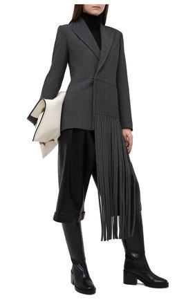 Женский шерстяной жакет BOSS серого цвета, арт. 50448947 | Фото 2
