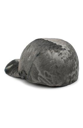 Женская бейсболка из меха каракульчи KUSSENKOVV светло-серого цвета, арт. 857100073006   Фото 2 (Материал: Натуральный мех)