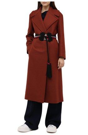 Женский текстильный пояс GIORGIO ARMANI черного цвета, арт. Y1I232/YFZ8Y   Фото 2