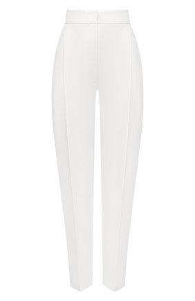 Женские шерстяные брюки ALEXANDER MCQUEEN белого цвета, арт. 634002/QJAAC   Фото 1
