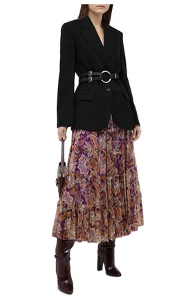 Женская шелковая юбка ZIMMERMANN фиолетового цвета, арт. 9032SLAD | Фото 2