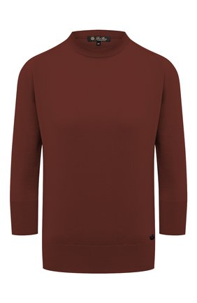 Женский кашемировый пуловер LORO PIANA коричневого цвета, арт. FAI4920   Фото 1