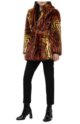 Женская шуба из экомеха VERSACE разноцветного цвета, арт. A87744/A236947 | Фото 2