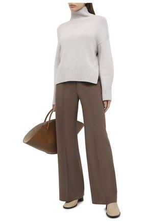 Женский кашемировый пуловер LORO PIANA светло-серого цвета, арт. FAI7129 | Фото 2