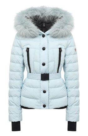 Женский пуховая куртка MONCLER голубого цвета, арт. F2-098-1A510-02-5399E | Фото 1