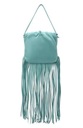Женский сумка fringe pouch BOTTEGA VENETA голубого цвета, арт. 630363/VCP40 | Фото 1