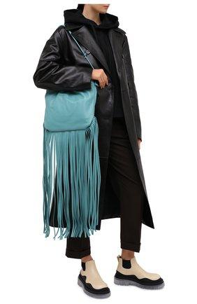 Женский сумка fringe pouch BOTTEGA VENETA голубого цвета, арт. 630363/VCP40 | Фото 2