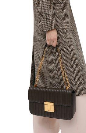 Женская сумка TOM FORD хаки цвета, арт. L1339T-ICL019   Фото 2 (Материал: Натуральная кожа; Ремень/цепочка: На ремешке; Сумки-технические: Сумки через плечо; Размер: medium)