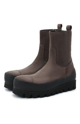 Женские замшевые ботинки ANN DEMEULEMEESTER серого цвета, арт. 2002-2926-P-362-020 | Фото 1