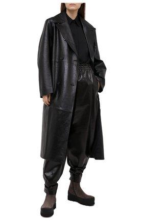 Женские замшевые ботинки ANN DEMEULEMEESTER серого цвета, арт. 2002-2926-P-362-020 | Фото 2