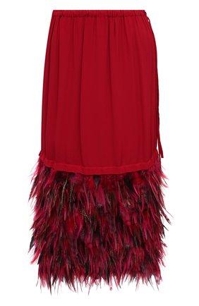 Женская юбка DRIES VAN NOTEN фуксия цвета, арт. 202-10842-1430 | Фото 1