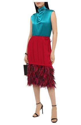 Женская юбка DRIES VAN NOTEN фуксия цвета, арт. 202-10842-1430 | Фото 2