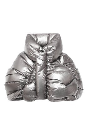 Женский пуховая куртка moncler + rick owens RICK OWENS серебряного цвета, арт. MW20F0001/C0634 | Фото 1