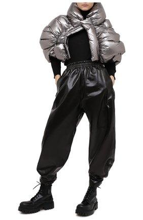 Женский пуховая куртка moncler + rick owens RICK OWENS серебряного цвета, арт. MW20F0001/C0634 | Фото 2