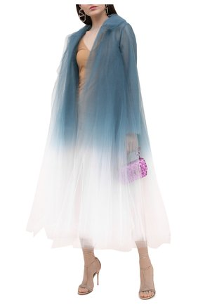 Женские кожаные босоножки GIANVITO ROSSI бежевого цвета, арт. G61618.15RIC.NPSPRAL   Фото 2