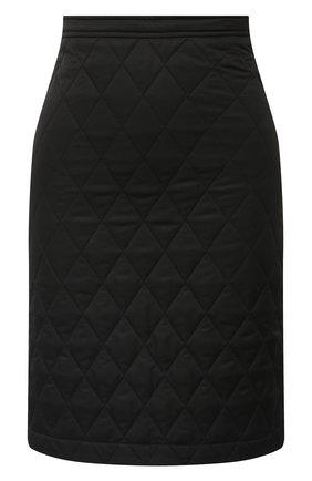 Женская юбка BURBERRY черного цвета, арт. 8031101 | Фото 1