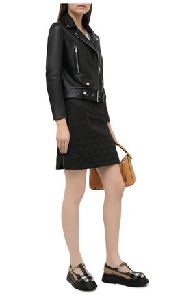 Женская юбка BURBERRY черного цвета, арт. 8031101 | Фото 2