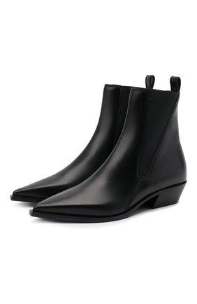 Женские кожаные ботинки BURBERRY черного цвета, арт. 8035233 | Фото 1