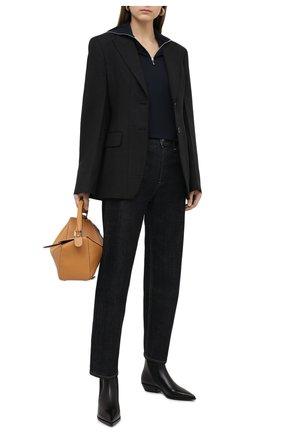 Женские кожаные ботинки BURBERRY черного цвета, арт. 8035233 | Фото 2