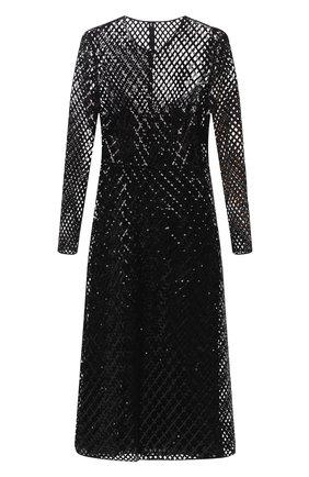 Женское платье с пайетками VALENTINO черного цвета, арт. UB0VATX00K8 | Фото 1