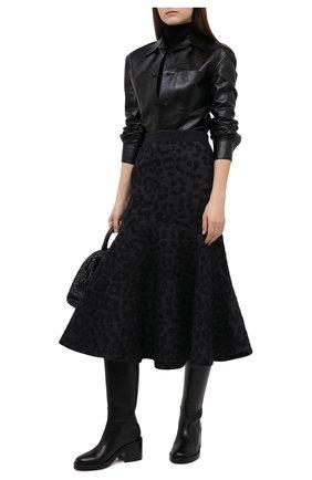 Женская шерстяная юбка VALENTINO серого цвета, арт. UB0KG02B600   Фото 2