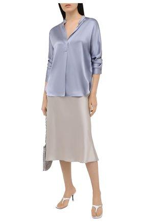 Женская шелковая блузка VINCE голубого цвета, арт. V692411926 | Фото 2