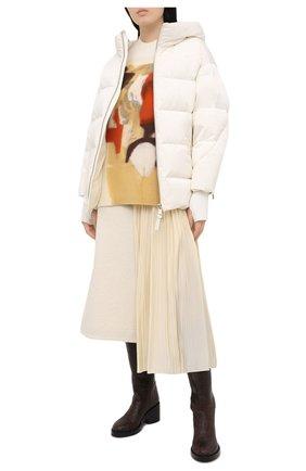 Женский пуховая куртка NICOLE BENISTI кремвого цвета, арт. NLJ50130 | Фото 2