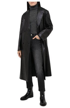 Женский шерстяной свитер AMI серого цвета, арт. H20FK206.003 | Фото 2