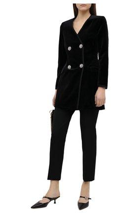 Женский хлопковый жакет RACIL черного цвета, арт. RS11-D28-LAURA VELVET | Фото 2