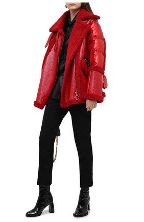 Женская дубленка NICOLE BENISTI красного цвета, арт. NLJ59136 | Фото 2