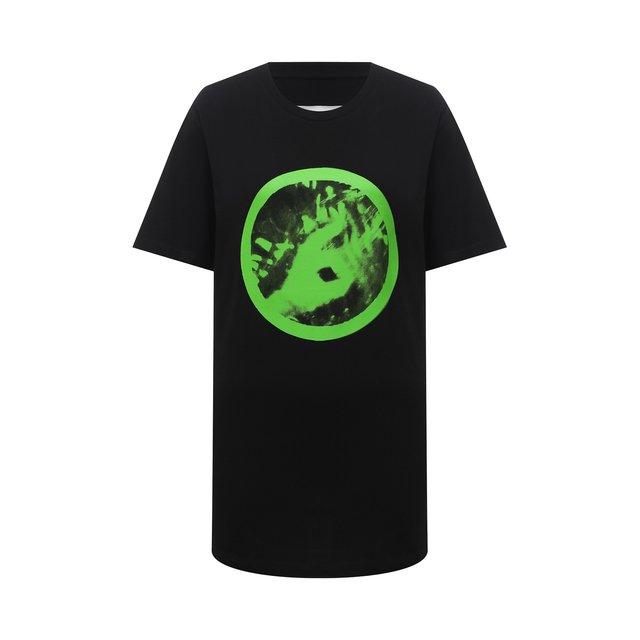 Хлопковая футболка Mm6
