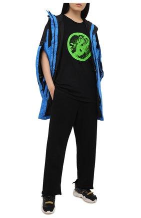 Женская хлопковая футболка MM6 черного цвета, арт. S62GD0077/S23588 | Фото 2
