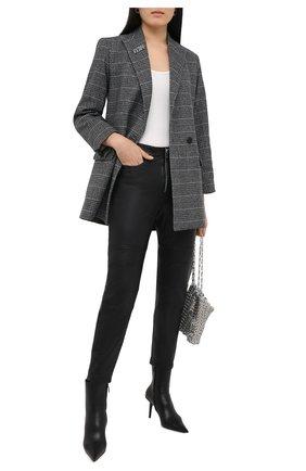 Женские кожаные брюки ZADIG&VOLTAIRE черного цвета, арт. WJCC1403F | Фото 2