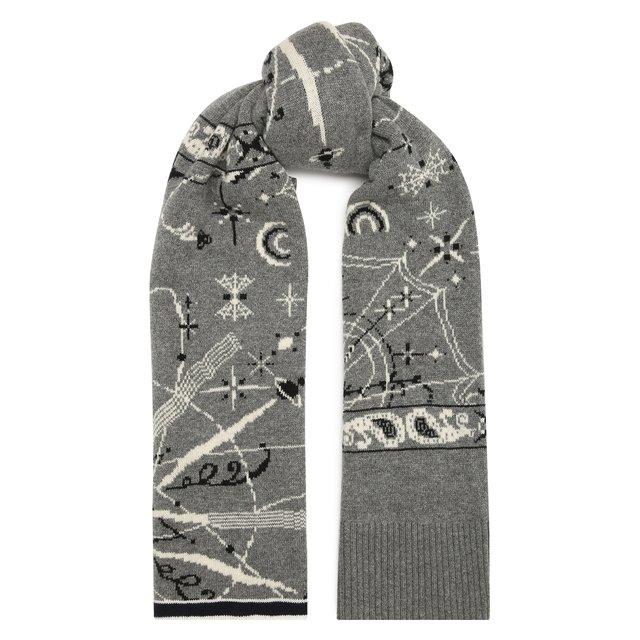 Шерстяной шарф Sacai