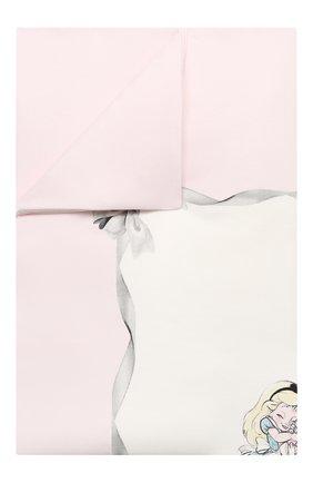 Детского хлопковое покрывало MONNALISA розового цвета, арт. 356019 | Фото 1
