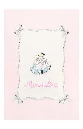 Детского хлопковое покрывало MONNALISA розового цвета, арт. 356019 | Фото 2