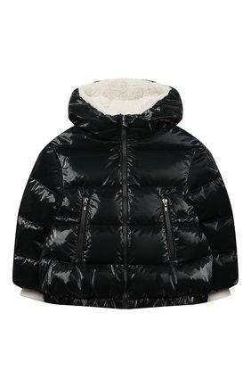 Детского пуховая куртка MONCLER темно-зеленого цвета, арт. F2-954-1A556-10-54AMD/4-6A | Фото 1