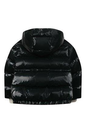 Детского пуховая куртка MONCLER темно-зеленого цвета, арт. F2-954-1A556-10-54AMD/4-6A | Фото 2