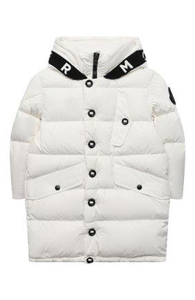 Детское пуховое пальто MONCLER белого цвета, арт. F2-954-1C512-20-54A91/4-6A | Фото 1