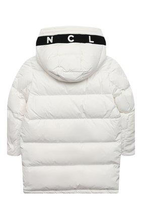 Детское пуховое пальто MONCLER белого цвета, арт. F2-954-1C512-20-54A91/4-6A | Фото 2