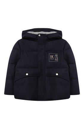 Детский пуховая куртка BRUNELLO CUCINELLI синего цвета, арт. BM428J303A | Фото 1