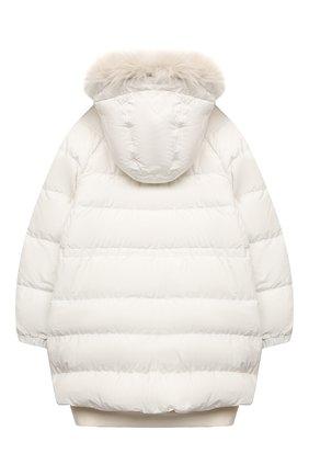 Детского пуховая куртка BRUNELLO CUCINELLI белого цвета, арт. BB574J419C | Фото 2