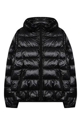 Детского пуховая куртка HERNO черного цвета, арт. PI0078B/12398/10A-14A | Фото 1