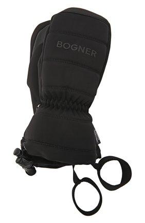 Детские утепленные перчатки BOGNER KIDS черного цвета, арт. 6097562 | Фото 1