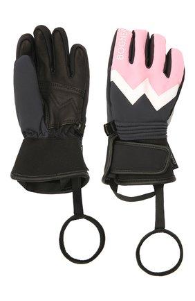 Детские перчатки BOGNER KIDS светло-розового цвета, арт. 6097260 | Фото 2