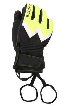 Детские перчатки BOGNER KIDS салатового цвета, арт. 6097260 | Фото 1