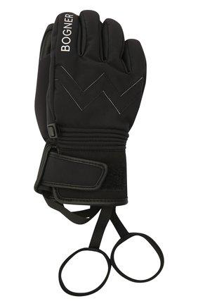 Детские перчатки BOGNER KIDS черного цвета, арт. 6097260 | Фото 1