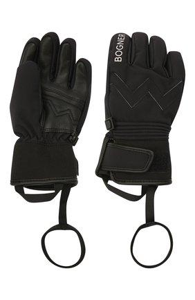 Детские перчатки BOGNER KIDS черного цвета, арт. 6097260 | Фото 2